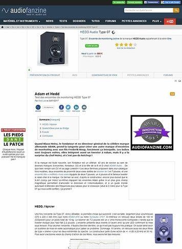 Audiofanzine.com HEDD Audio Type 07