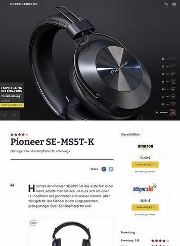 Kopfhoerer.de Pioneer SE-MS5T-K Black