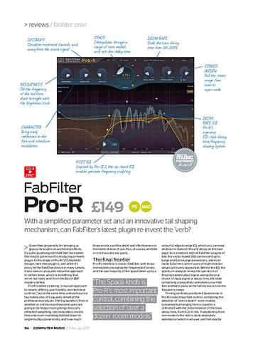 Computer Music FabFilter Pro-R