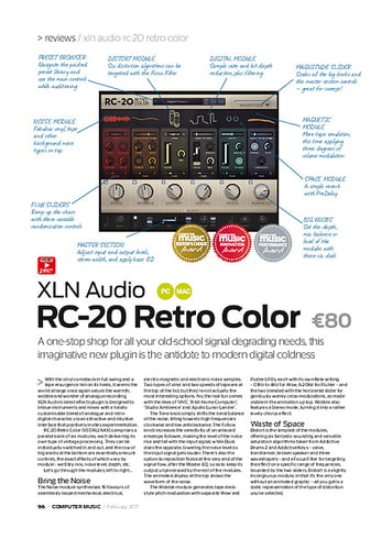 Computer Music XLN Audio RC-20 Retro Color