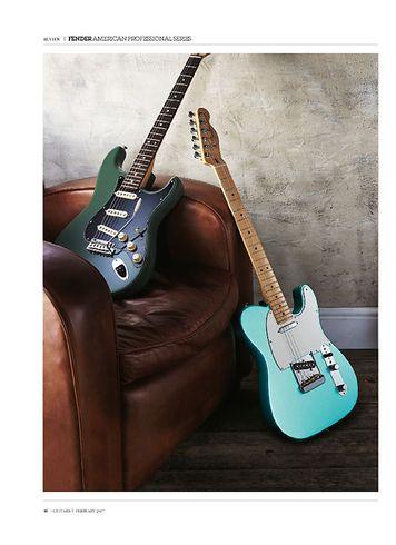 Guitarist Fender American Professional Stratocaster