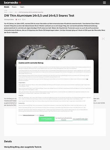 Bonedo.de DW Thin Aluminium 14x5,5 und 14x6,5 Snares