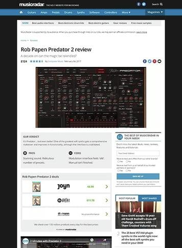 MusicRadar.com Rob Papen Predator 2