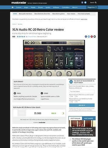 MusicRadar.com XLN Audio RC-20 Retro Color