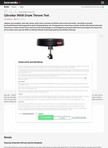 Bonedo.de Gibraltar 9608 Drum Throne