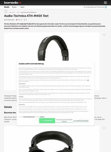 Bonedo.de Audio-Technica ATH-M40X