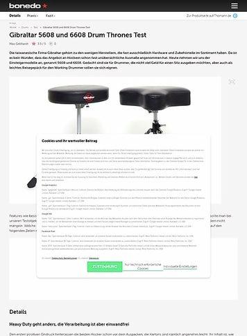 Bonedo.de Gibraltar 5608 und 6608 Drum Thrones