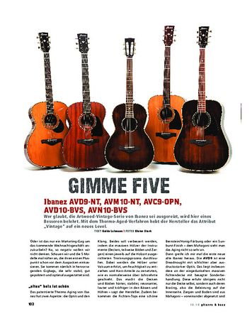 Gitarre & Bass Ibanez Artwood Vintage Thermo Aged