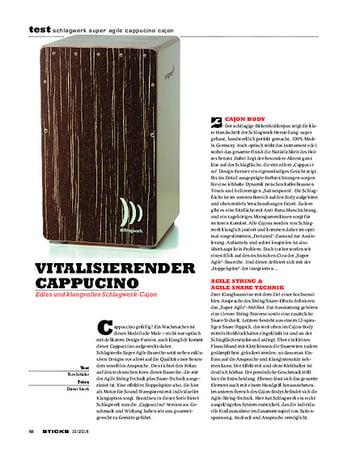 Sticks Schlagwerk Super Agile Cappucino Cajon