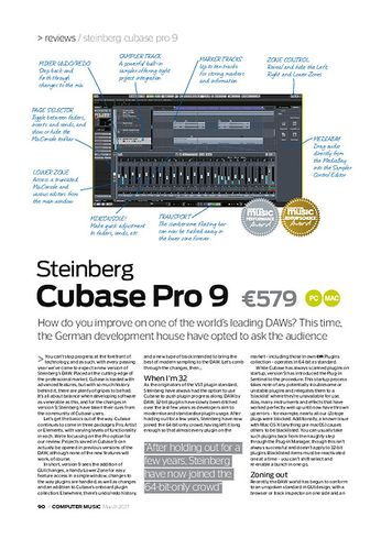 Computer Music Steinberg Cubase Pro 9