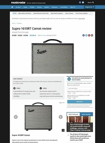 MusicRadar.com Supro 1610RT Comet