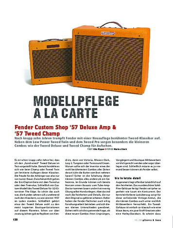 Gitarre & Bass Fender Custom Shop '57 Deluxe Amp & '57 Tweed Champ