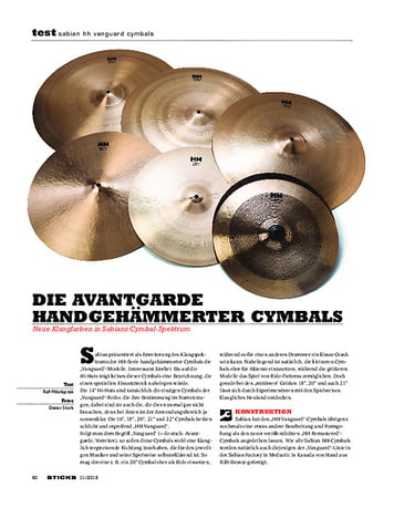 Sticks Sabian HH Vanguard Cymbals