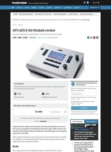 MusicRadar.com ATV aD5 E-Kit Module