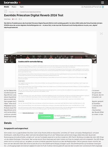 Bonedo.de Eventide Princeton Digital Reverb 2016