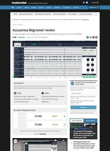 MusicRadar.com Accusonus Regroover
