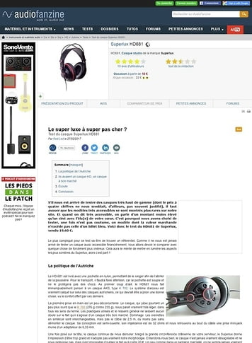 Audiofanzine.com Superlux HD681