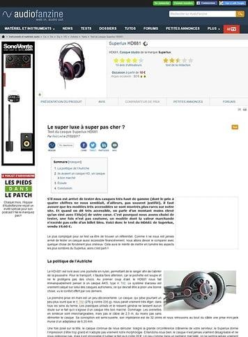 Audiofanzine.com Superlux HD681