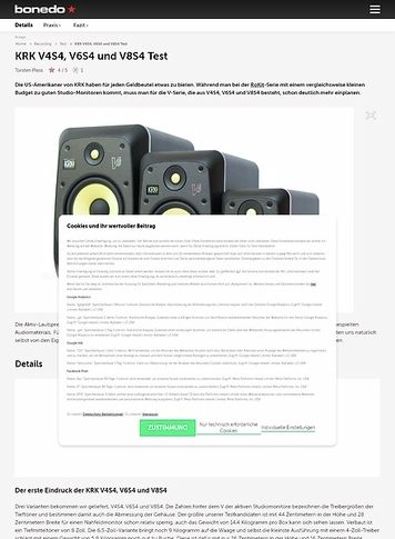Bonedo.de KRK V4S4, V6S4 und V8S4