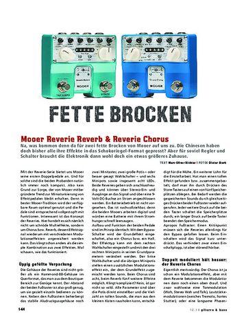 Gitarre & Bass Mooer Reverie Reverb & Reverie Chorus