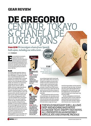Rhythm De Gregorio Centaur, Tokayo and Chanela Deluxe Cajons