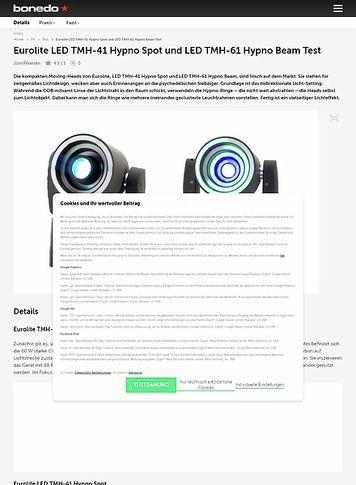 Bonedo.de Eurolite LED TMH-41 Hypno Spot und LED TMH-61 Hypno Beam