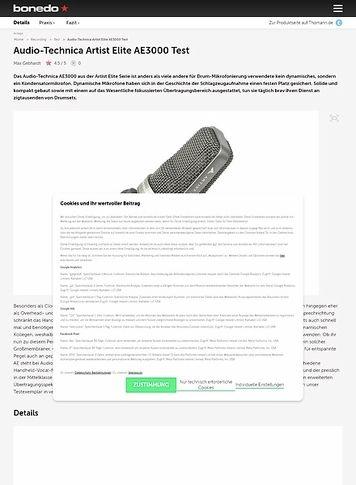 Bonedo.de Audio-Technica Artist Elite AE3000