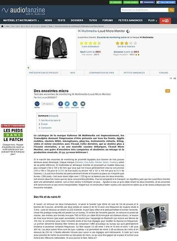 Audiofanzine.com IK Multimedia iLoud Micro Monitor