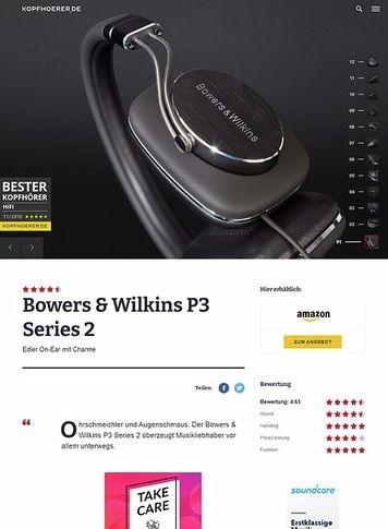 Kopfhoerer.de Bowers & Wilkins P3 S2