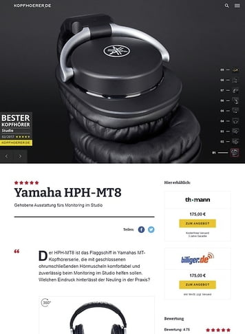Kopfhoerer.de Yamaha HPH-MT8