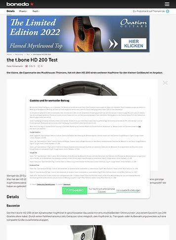 Bonedo.de the t.bone HD 200