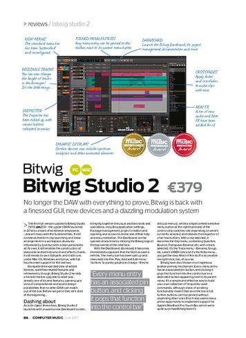 Computer Music Bitwig Studio 2
