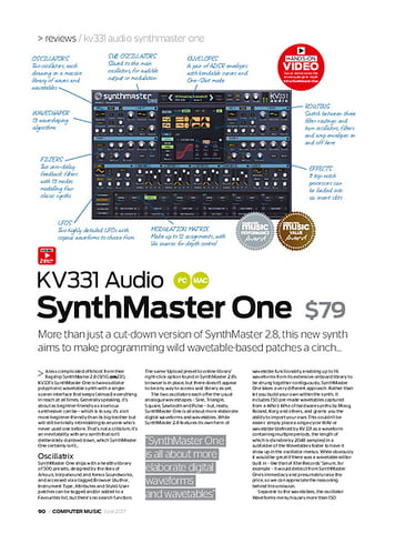 Computer Music KV331 Audio SynthMaster One