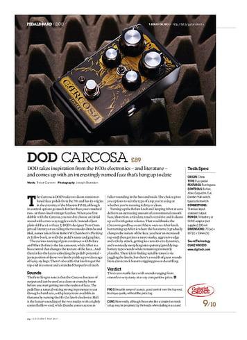 Guitarist DOD Carcosa
