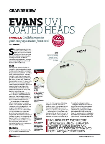 Rhythm Evans UV1 Coated Heads