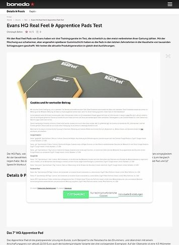 Bonedo.de Evans HQ Real Feel & Apprentice Pads
