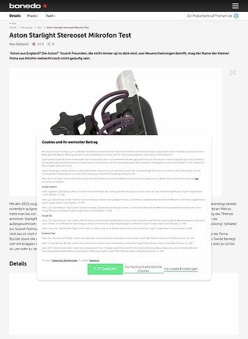 Bonedo.de Aston Microphones Starlight Test Preview