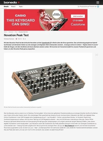 Bonedo.de Novation Peak