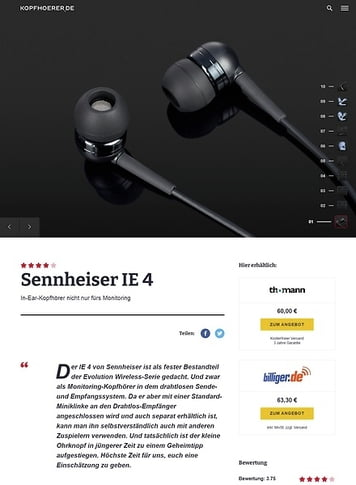 Kopfhoerer.de Sennheiser IE 4