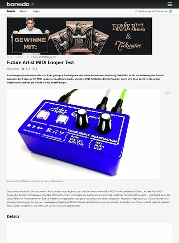 Bonedo.de Future Artist MIDI Looper