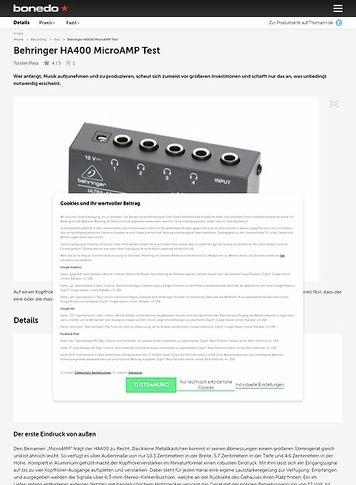 Bonedo.de Behringer HA400 MicroAMP