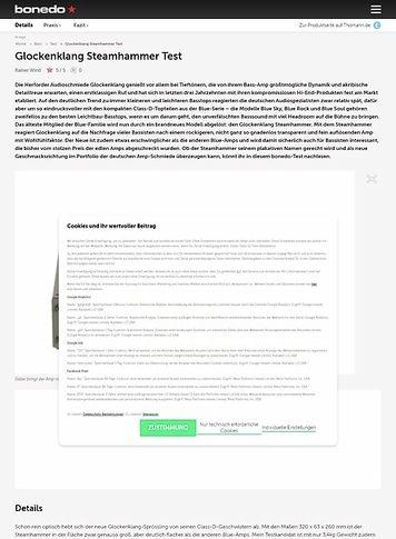 Bonedo.de Glockenklang Steamhammer