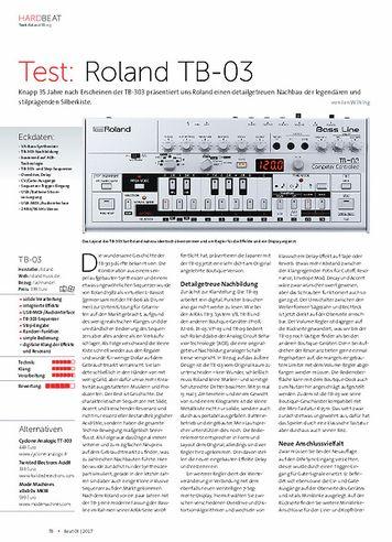 Beat Roland TB-03