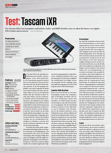 Beat Tascam iXR, sE Electronics X1 A, Korg plugKEY