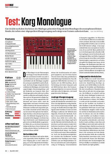 Beat Korg Monologue