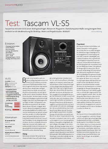Beat Tascam VL-S5, Steinberg UR12, Fostex T40RP MK3