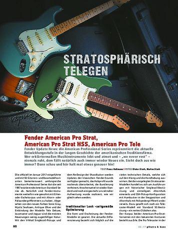 Gitarre & Bass Fender American Pro Series