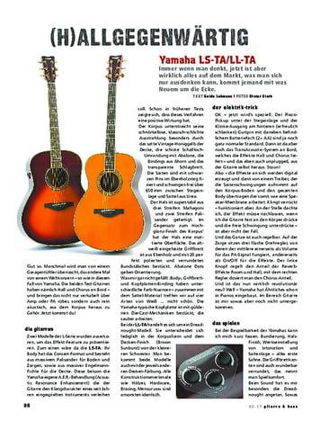 Gitarre & Bass Yamaha LL-TA & LS-TA