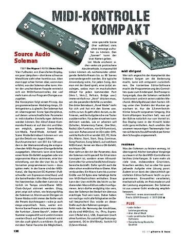 Gitarre & Bass Source Audio Soleman