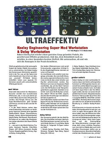 Gitarre & Bass Keeley Engineering Super Mod Workstation + Delay Workstation